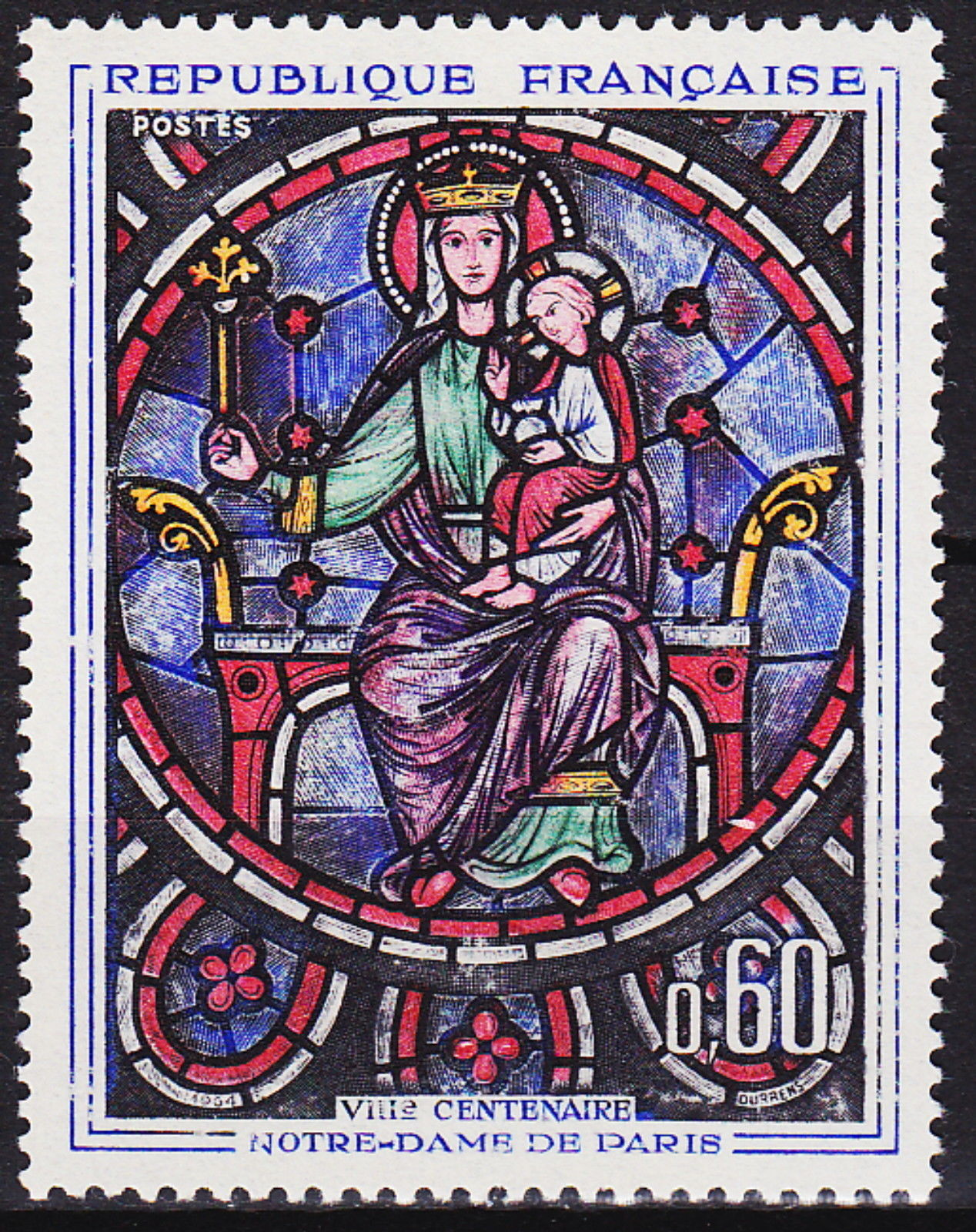France 1964 800th Anniversary of Notre Dame Cathedral