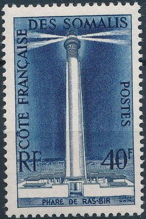 French Somali Coast 1956 Ras-Bir Lighthouse a.jpg