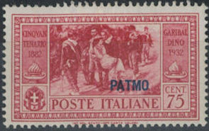 Italy (Aegean Islands)-Patmo 1932 50th Anniversary of the Death of Giuseppe Garibaldi f.jpg
