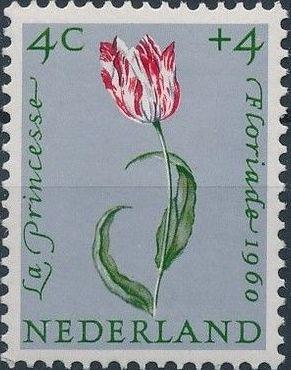 Netherlands 1960 Surtax for Child Welfare - Flowers