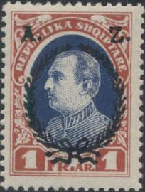 Albania 1927 President Ahmed Zogu Overprinted h.jpg