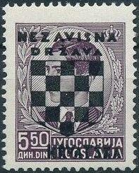 Croatia 1941 Peter II of Yugoslavia Overprinted in Black i.jpg
