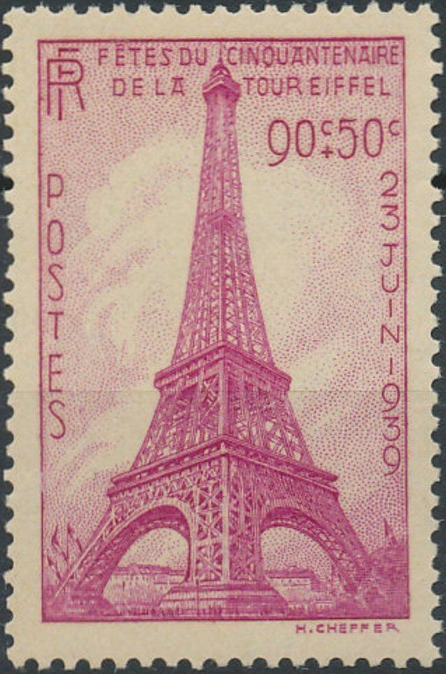 France 1939 50th Anniversary of Eiffel Tower