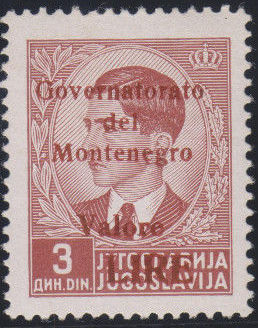Montenegro 1941 Yugoslavia Stamps Surcharged under Italian Occupation l.jpg