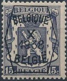 Belgium 1938 Coat of Arms - Precancel (10th Group)