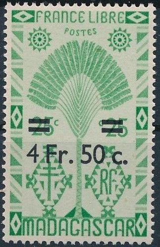 Madagascar 1945 Travelers' Tree Surcharged g.jpg