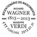 Portugal 2013 Bicentenary of the birth of R. Wagner and Giuseppe Verdi PMc.jpg