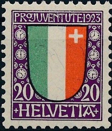 Switzerland 1923 PRO JUVENTUTE - Coat of Arms c.jpg