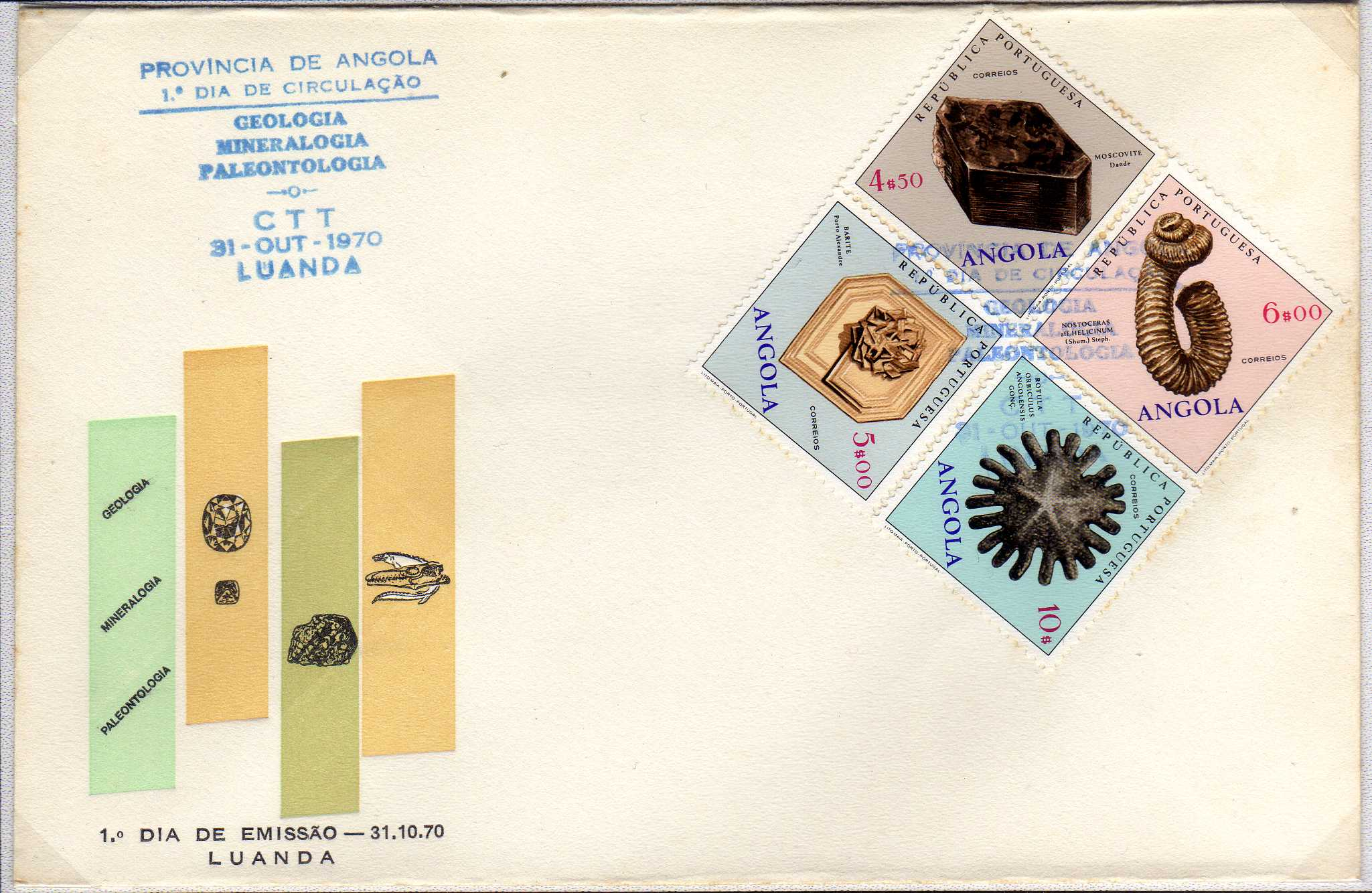 Angola 1970 Fossils and Minerals from Angola j.jpg