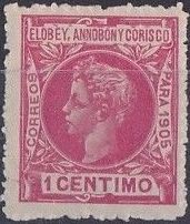 Elobey, Annobon and Corisco 1905 King Alfonso XIII