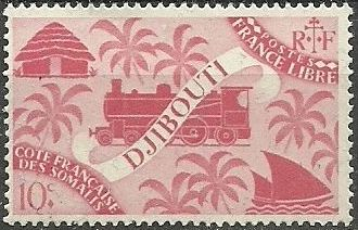 French Somali Coast 1943 Locomotive and Palms b.jpg