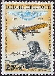 Belgium 1976 75th Anniversary of the Royal Belgian Aero Club and Jan Olieslagers, Aviation Pioneer