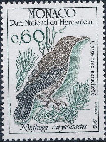 Monaco 1982 Birds from Mercantour National Park