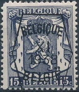 Belgium 1938 Coat of Arms - Precancel (11th Group)