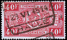Belgium 1941 Railway Stamps (Numeral in Rectangle IV) w.jpg