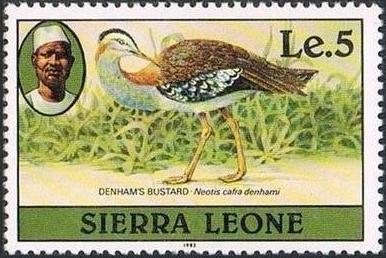 Sierra Leone 1982 Birds from 1980 Imprint 1982 n.jpg