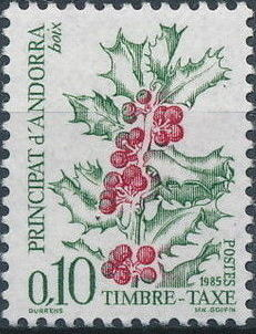 Andorra-French 1985 Flowers (Postage Due Stamps)