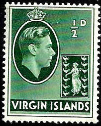 British Virgin Islands 1938 George VI and Seal of the Colony