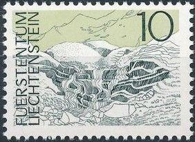 Liechtenstein 1972 Landscapes