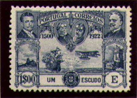 Portugal 1923 First flight Lisbon Brazil n.jpg
