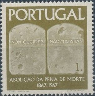 Portugal 1967 1st Centenary of the Abolition of the Death Penalty