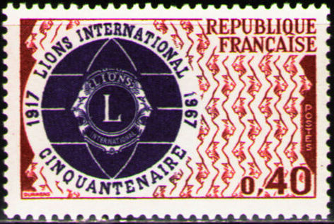 France 1967 50th Anniversary of Lions International