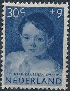 Netherlands 1957 Child Welfare Surtax - Girls' Portraits e.jpg