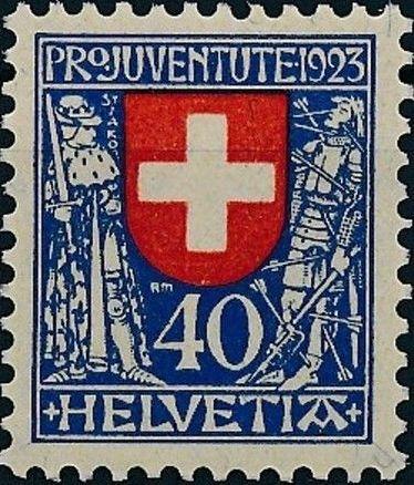 Switzerland 1923 PRO JUVENTUTE - Coat of Arms d.jpg