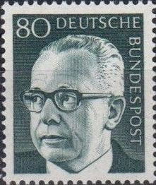Germany, Federal Republic 1971 President Gustav Heinemann (4th Group) d.jpg