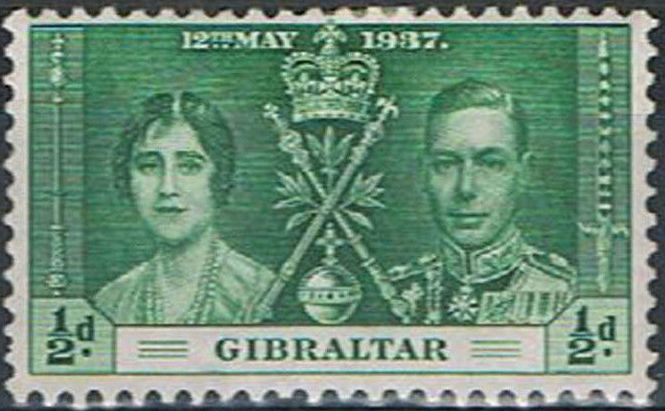 Gibraltar 1937 George VI Coronation