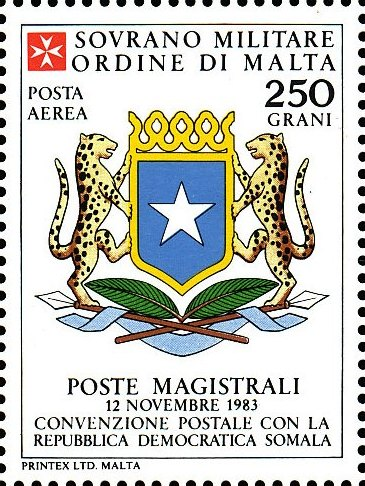 Sovereign Military Order of Malta 1986 Agreements Concluded by The Postal