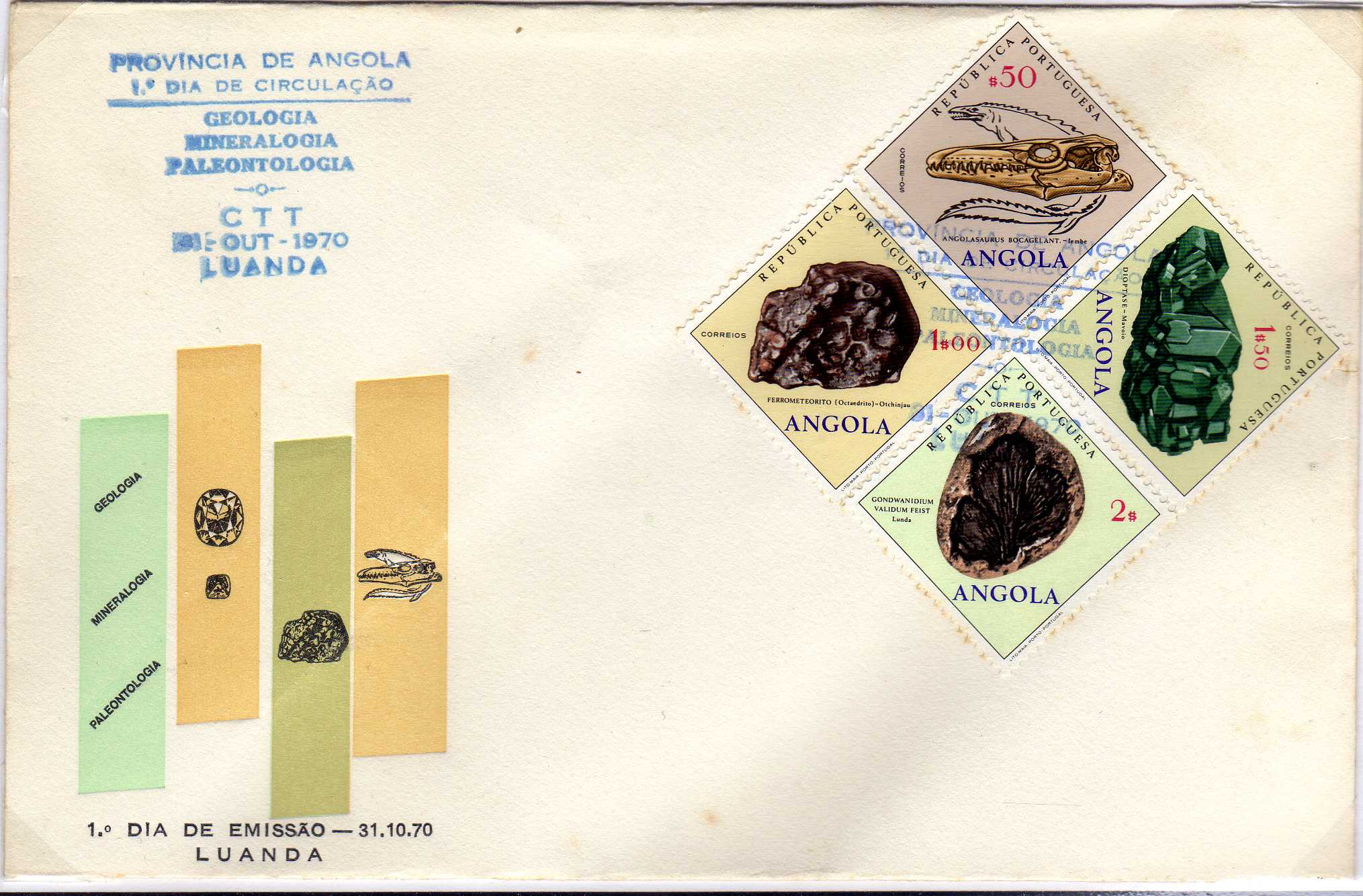 Angola 1970 Fossils and Minerals from Angola o.jpg