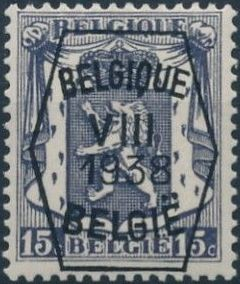 Belgium 1938 Coat of Arms - Precancel (8th Group)