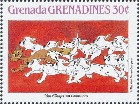 Grenada Grenadines 1988 The Disney Animal Stories in Postage Stamps 3f.jpg