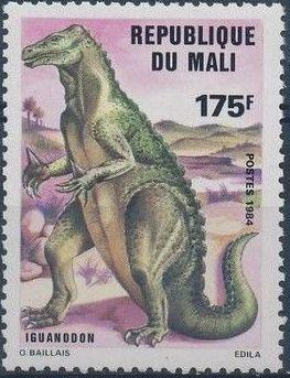 Mali 1984 Prehistoric Animals e.jpg