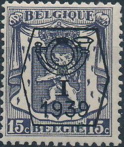 Belgium 1939 Coat of Arms - Precancel (1st Group)