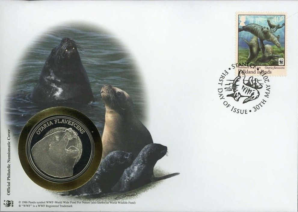 Falkland Islands 2011 WWF - The Southern Sealion FDCg.jpg