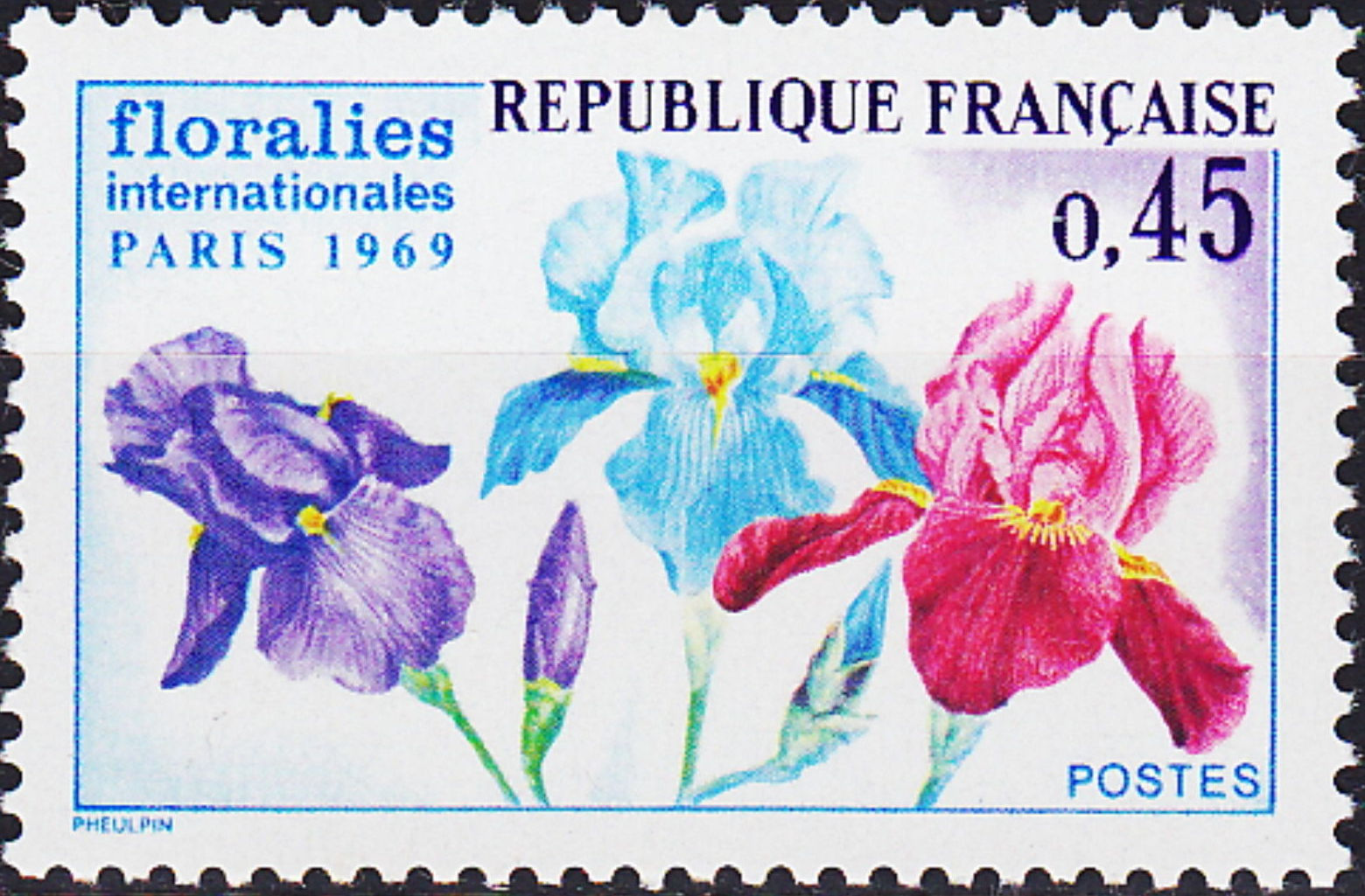 France 1969 3rd International. Flower Show in Paris