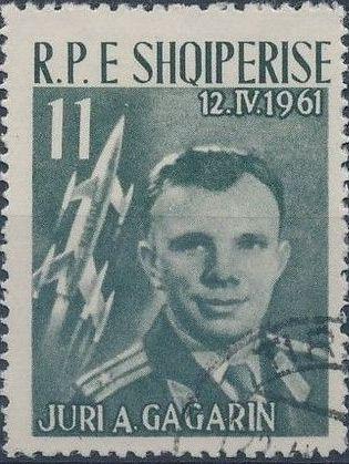 Albania 1962 1st manned space flight - Yuri Gagarin c.jpg