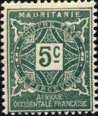 Mauritania 1914 Postage Due Stamps