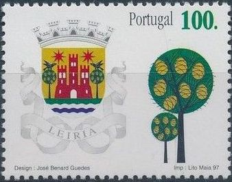Portugal 1997 Arms of the Districts of Portugal d.jpg