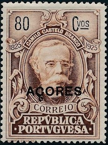 Azores 1925 Birth Centenary of Camilo Castelo Branco m.jpg