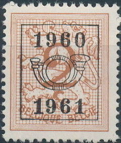 Belgium 1960 Heraldic Lion with Precanceled Number