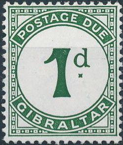 Gibraltar 1956 Postage Due Stamps