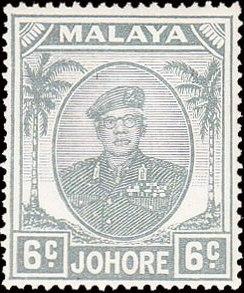 Malaya-Johore 1949 Definitives - Sultan Ibrahim e.jpg