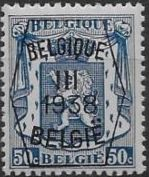 Belgium 1938 Coat of Arms - Precancel (3rd Group) f.jpg