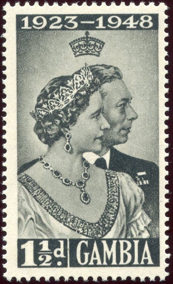Gambia 1948 Silver Wedding of King George VI & Queen Elizabeth