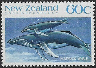 New Zealand 1988 Whales of the Southern Oceans