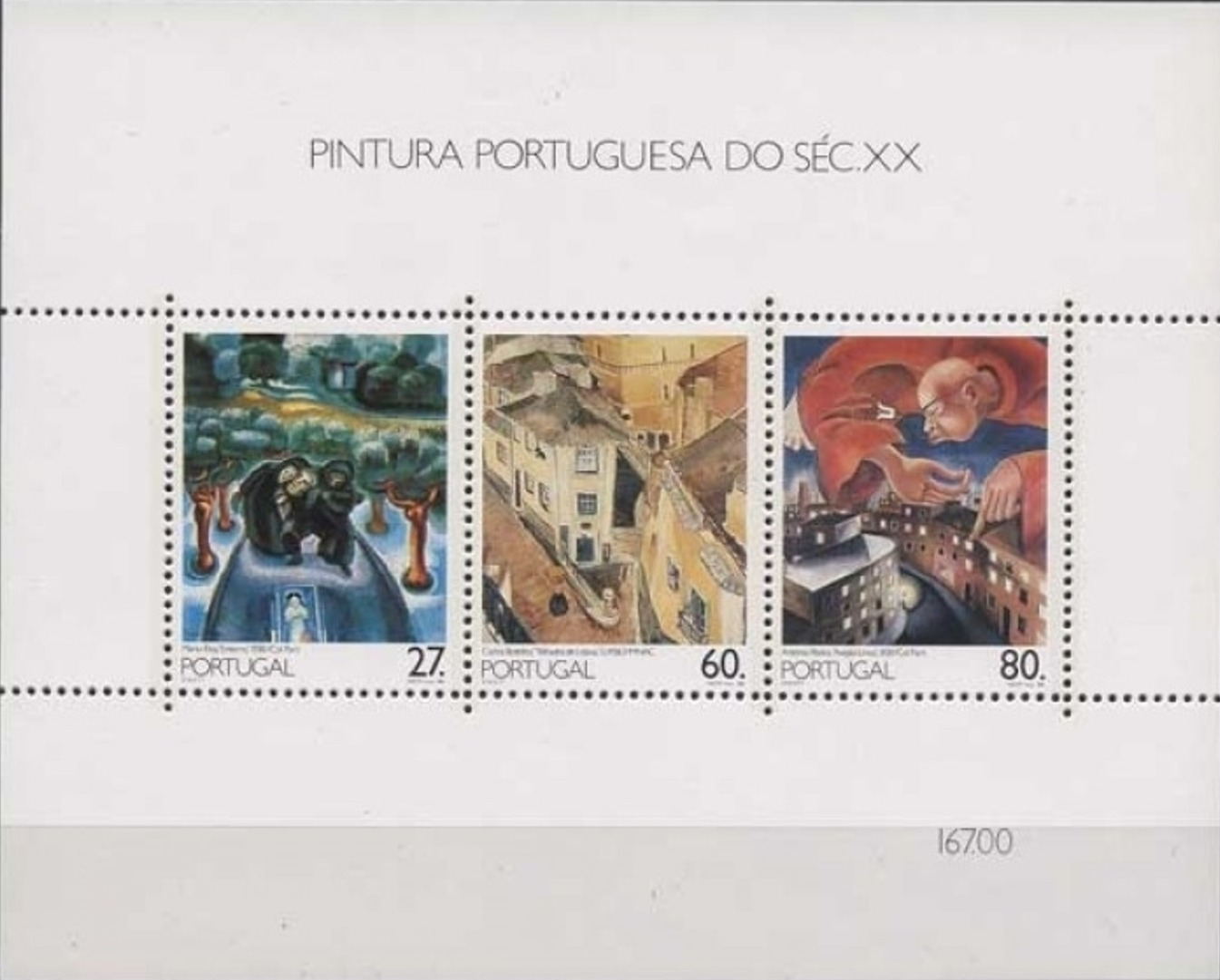Portugal 1988 Portuguese Paintings of the 20th Century (2nd Group)