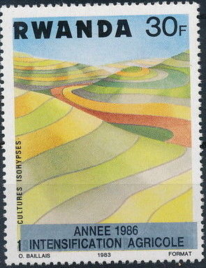 Rwanda 1986 Soil Erosion Prevention (Surcharged and Overprinted) f.jpg